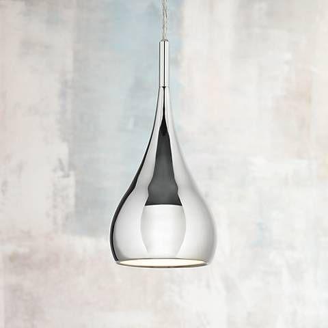 Beautiful Possini Euro Raindrop Chrome Finish Mini Pendant Light   Style # N3650 Pictures