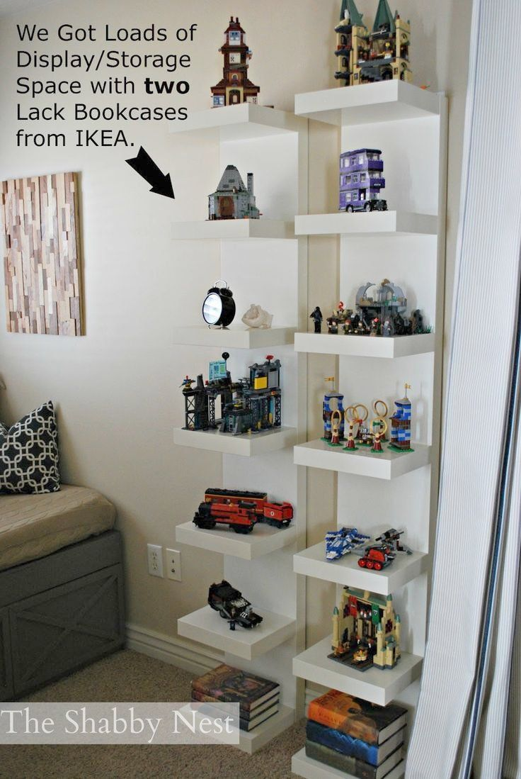 Bedroom Display Shelves Display Lego Collection We Used Lack