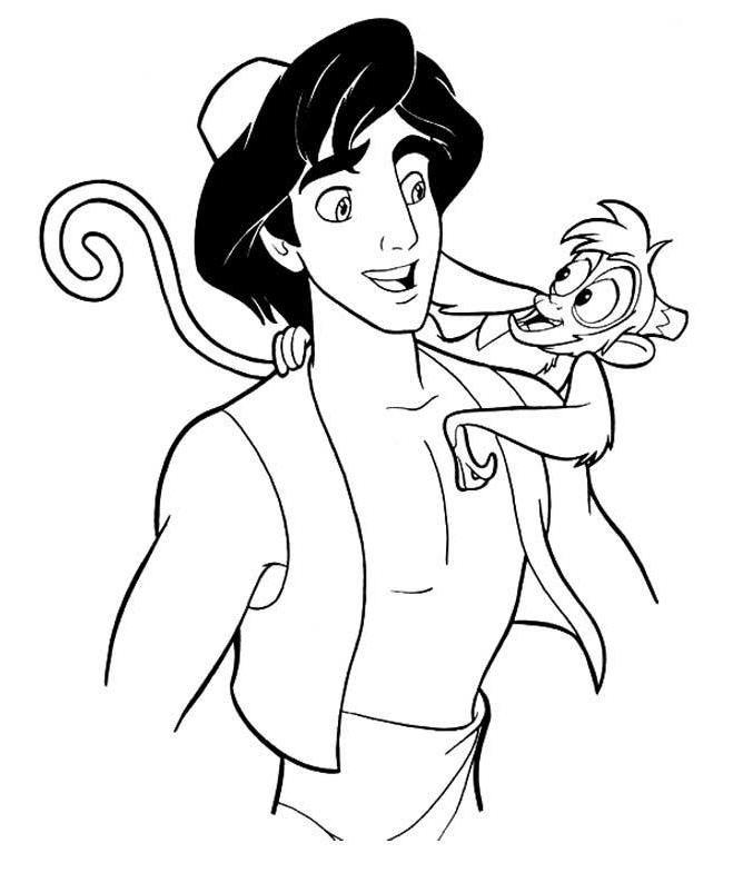 Mejores 8 imágenes de Aladdin en Pinterest   Páginas para colorear ...