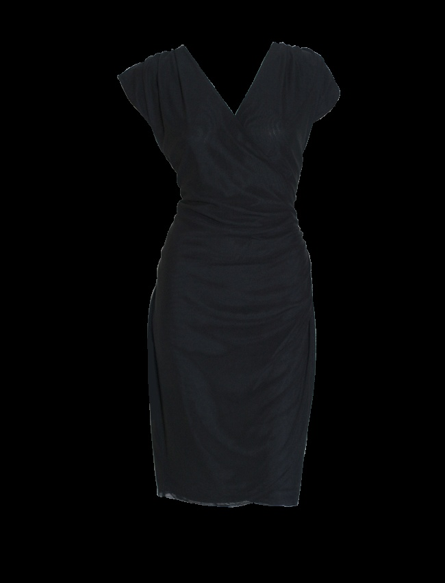 Liz Jordan Wrap Mesh Dress $89.95