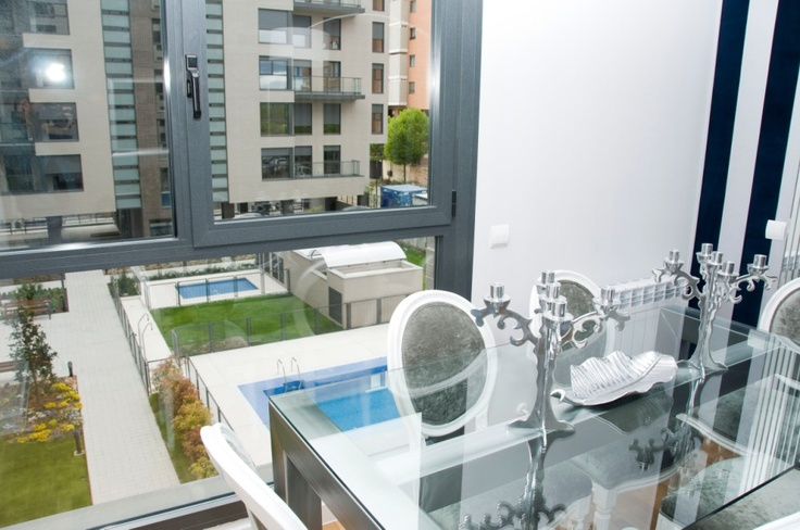 Vistas del salón en uno de nuestros pisos en Residencial Célere Tres Cantos #decoracion #vivienda