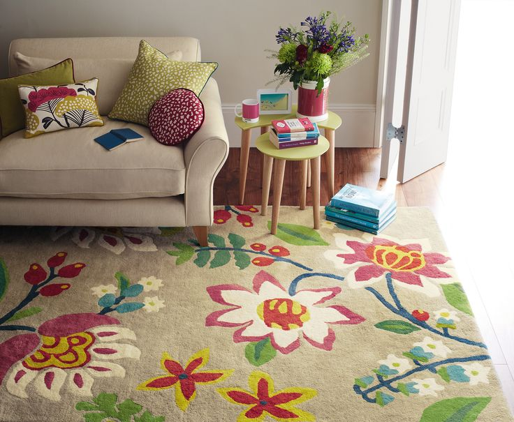 Sanderson Myrtle Rugs Are Handmade In India By Brink And Campman Have Been Designed The Uk Home To Match Their Range Of Fabrics