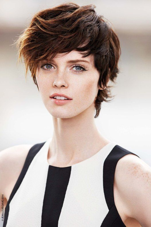 Beach Waves on pixie cut by Jean Louis David (Summer 2014 Collection)
