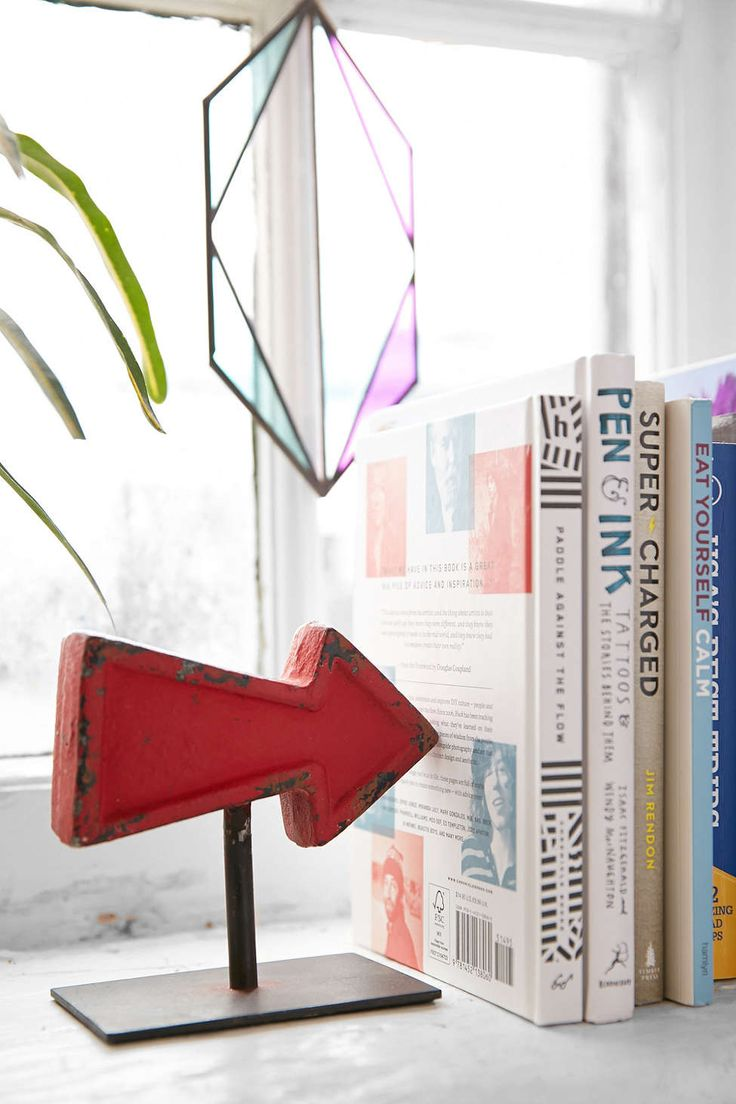 Arrow Bookend Set