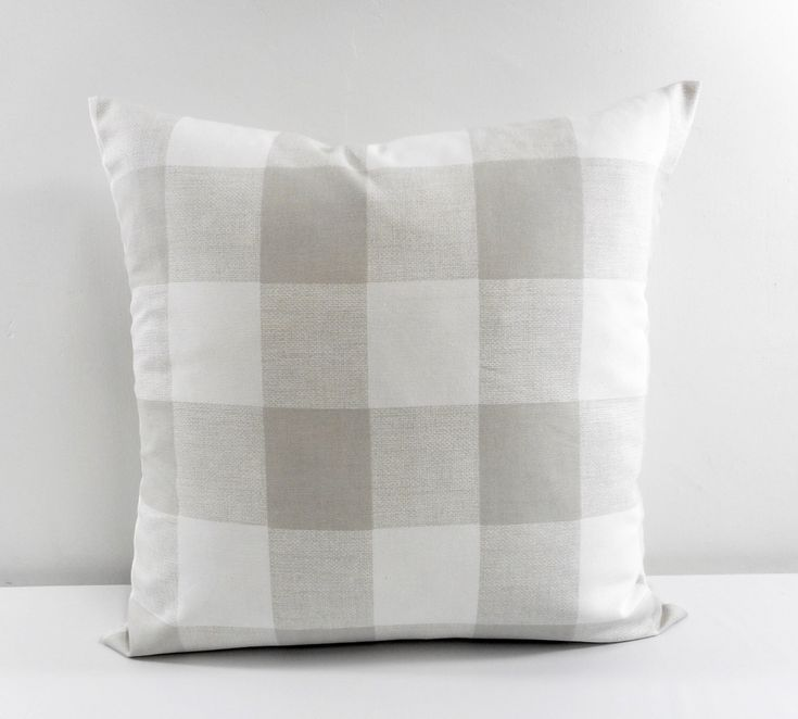GREY Buffalo Check Pillow. Sofa Pillow. French Grey Cushion Covers. French Grey. Country Style Pillow Case. Cotton. Select sizes. by TwistedBobbinDesigns on Etsy https://www.etsy.com/listing/258946375/grey-buffalo-check-pillow-sofa-pillow