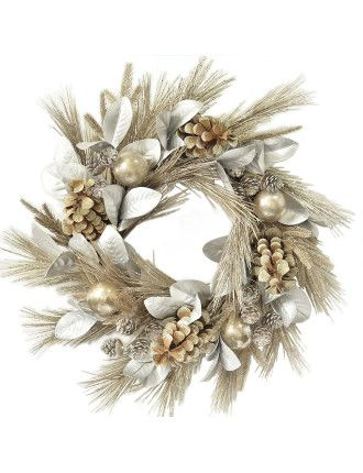 Wreath Northern Lights Silver/Brown