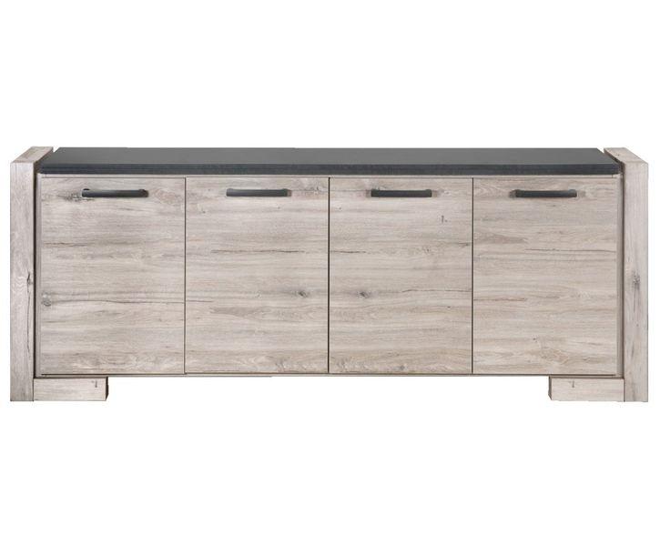 Dressoir Yorit: In een landelijk stoere stijl. Erg leuk voor in de woonkamer. #meubel