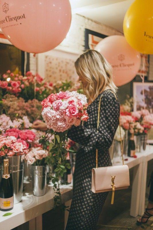 Build your own bouquet bar at Gray Malin's Veuve Cliquot party