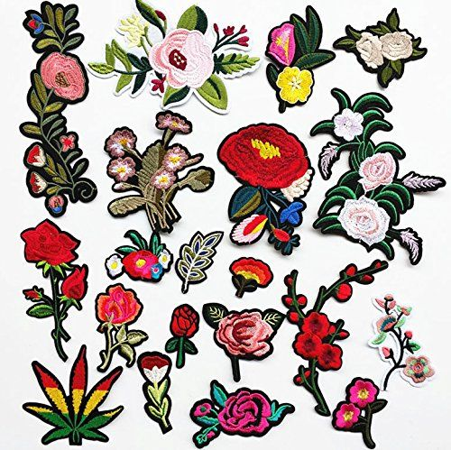 Dandan DIY 20pcs Assorted Flowers Sew On/Iron On Patch Ap... amazon.com