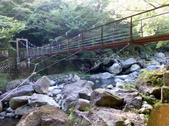 堂ヶ島渓谷の吊橋8