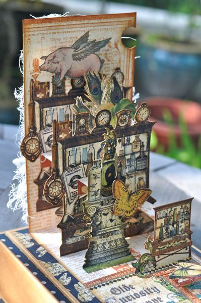Olde Curiosity Shoppe Altered Art Box