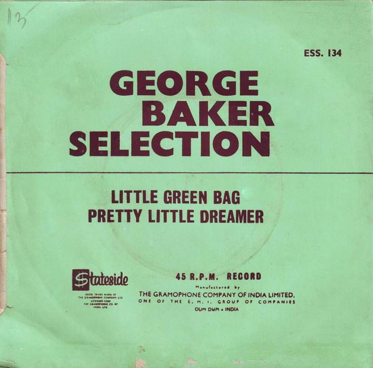 """On March 7th 1970, the George Baker Selection performed """"Little Green Bag"""" on the ABC-TV program 'American Bandstand'...  And eight days later on March 15th it entered Billboard's Hot Top 100 chart at position no. 82; ten weeks later on May 24th, 1970 it peaked at no.21 {for 1 weeks} and spent 13 weeks on the Top 100..."""