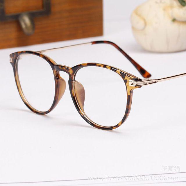 2015 moda De nueva marca gafas enmarcan gafas De Grau Femininos ordenador redondo lentes Vintage espectáculo marco óptico N118
