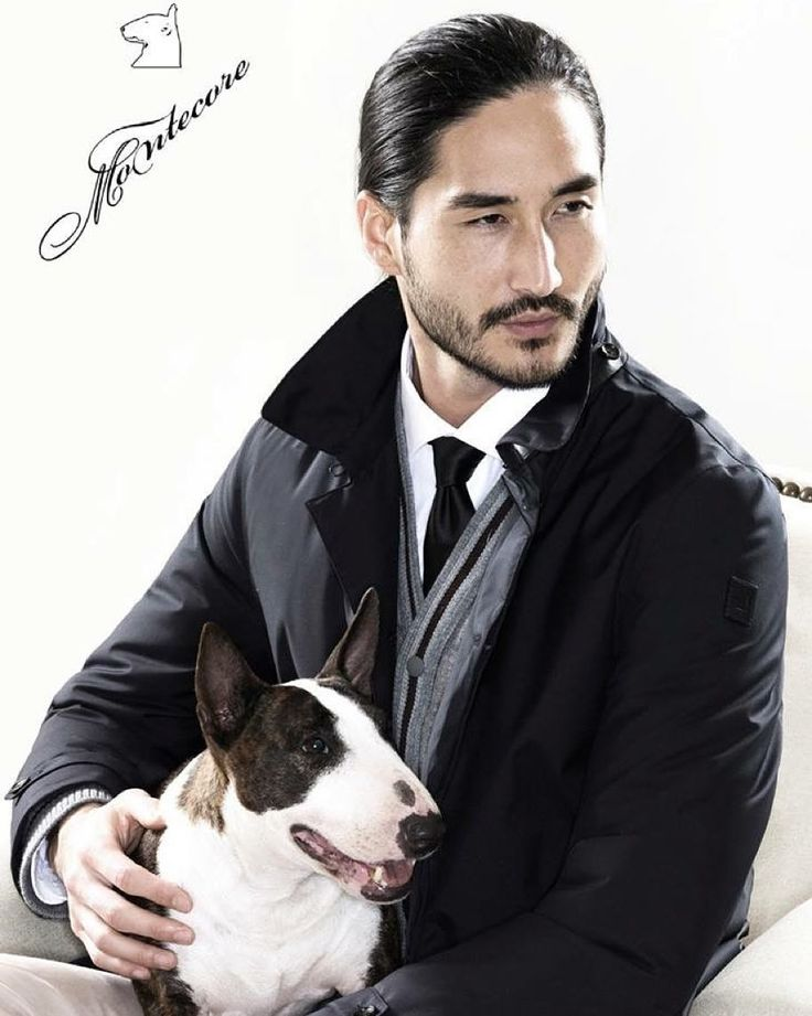 With my furry compagnon for Montecore autum/winter 2015 #montecore #campaign #aw15 #dog #cute #friend #asian #beard #suit #menswear #mensfashion #dog #puppy by tonythornburg
