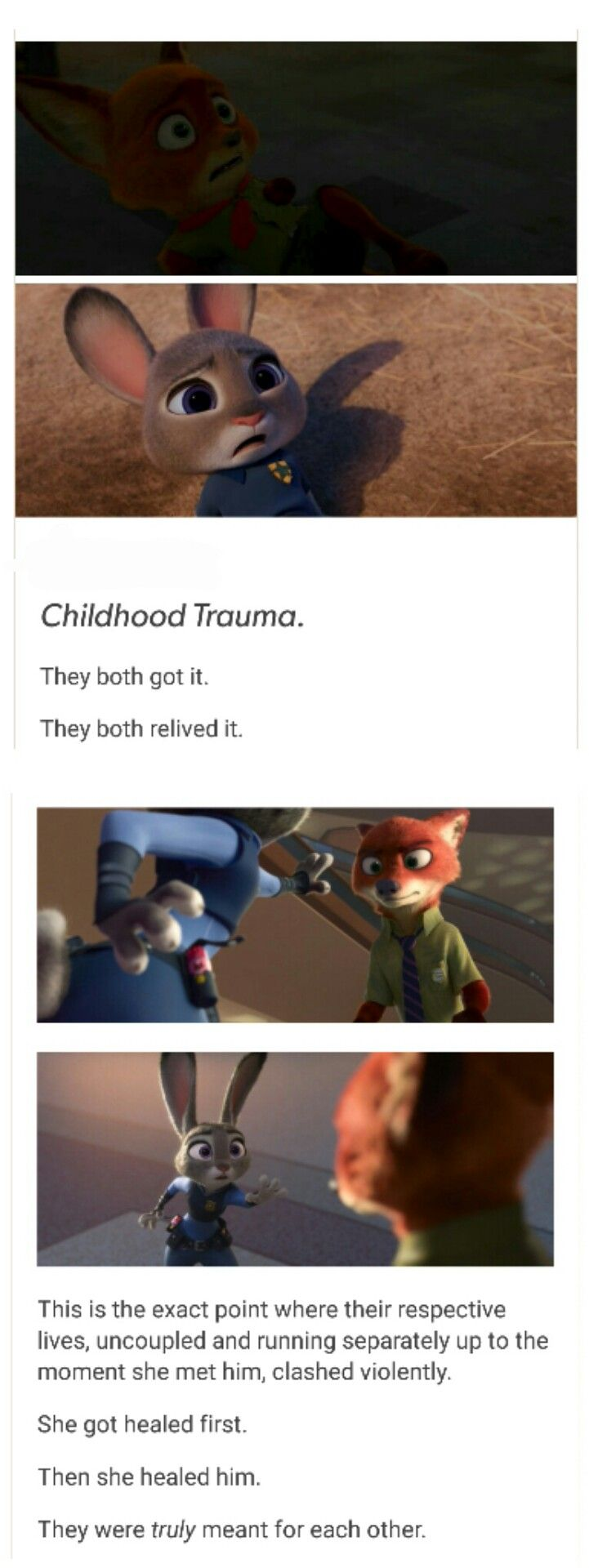 Why Judy and Nick got along so well at the end.
