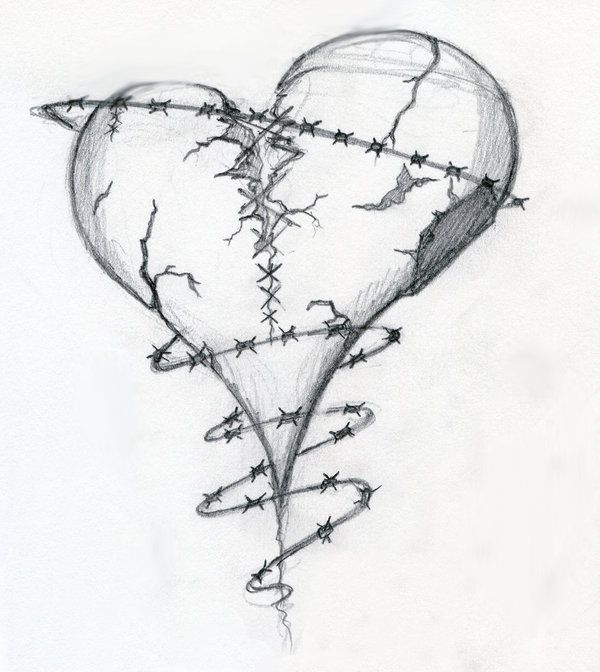 deviantART: Heart Tattoo Design Heart Drawings Broken Heart Tattoo ...