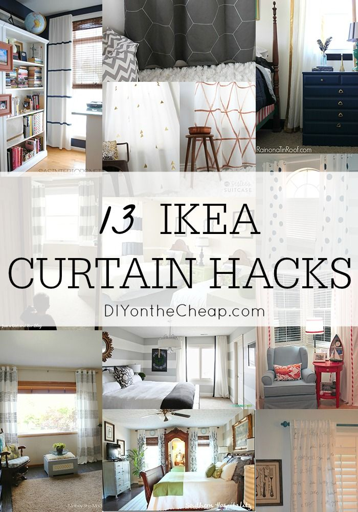 Inexpensive Window Treatments 13 IKEA Curtain Hacks