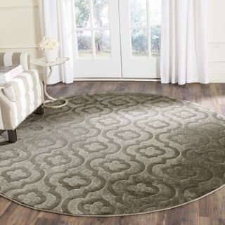 Shop for Safavieh Porcello Contemporary Geometric Grey/ Dark Grey Rug (6'7 Round). Get free shipping at Overstock.com - Your Online Home Decor Outlet Store! Get 5% in rewards with Club O!
