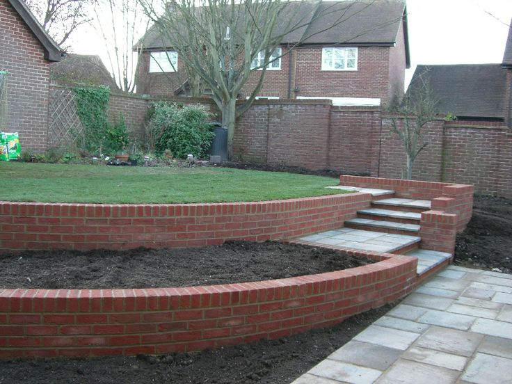 Retaining Wall Design Brick : Best images about landscaping ideas on