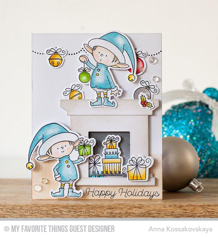 Santa's Elves, Trim the Tree, Fireplace Die-namics, Santa's Elves Die-namics - Anna Kossakovskaya  #mftstamps