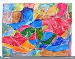 """""""Abstract Figure's"""" #Creative #Art in #painting @Touchtalent"""