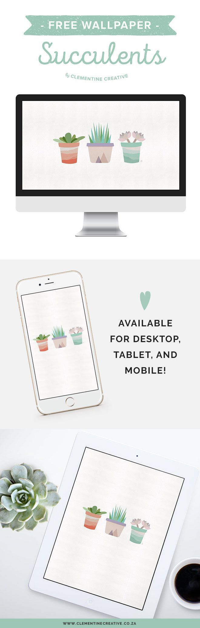 Free Desktop Wallpaper: Succulents. Download for your computer, tablet and mobile! | Curated pins by @4vector