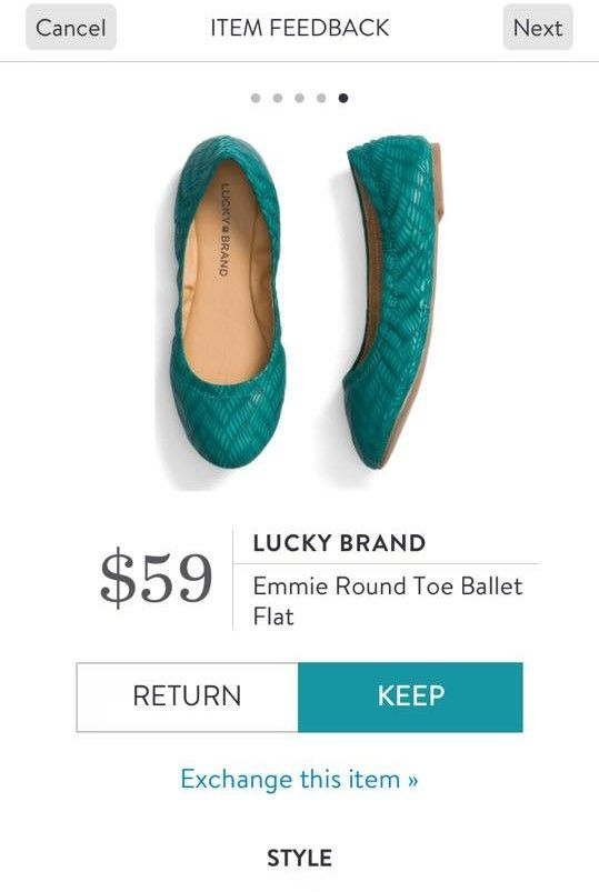Stitch Fix shoes 2017! Lucky Brand round toe ballet flat. Emerald green ballet flats. So cute for any season. #StitchFix #Sponsored