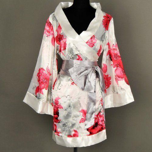 Shanghai Tone® Kimono Robe Yukata Nightie Sleepwear Floral-White One Size by Shanghai Tone, http://www.amazon.com/dp/B00ACH6H8K/ref=cm_sw_r_pi_dp_qq4.qb09HNMYN