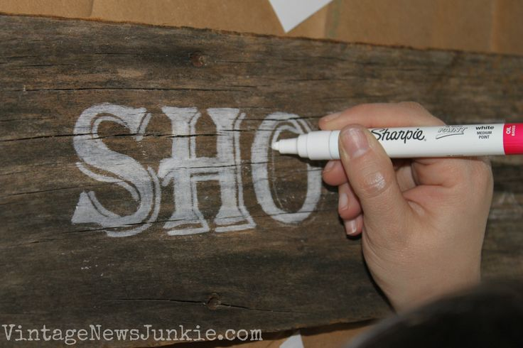 Barn Wood Sign | Vintage News Junkie  chalk pen lettering on aged barn wood... great idea!