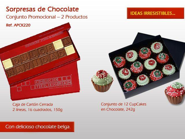 ¿No hay ideas para esta Navidad? ¡Intente enviar un mensaje original en Dulce Chocolate ! Más información en: http://www.mysweets4u.com/es/?o=2,9,235,0,0,0