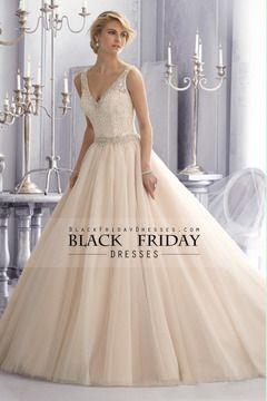 2014 cuello en V con cuentas Corpiño de encaje una línea vestidos Wdedding Con Tul Falda USD 269.99 BFPPG1FA43 - BlackFridayDresses.com