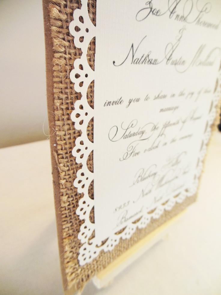 16 best wedding invites images on Pinterest   Invites, Vintage linen ...