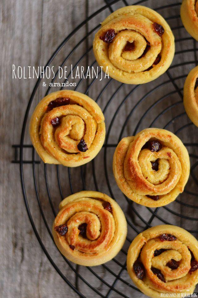 Bocadinhos de Açúcar: Rolinhos de Laranja e Arandos (Orange and Cranberr...