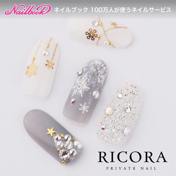 選べるクリスマスネイルinstagram→tunashima.nail#ジェルネイル #冬 #クリスマス #雪の結晶 #ツリー#ピクシーネイル|ネイルデザインを探すならネイル数No.1のネイルブック