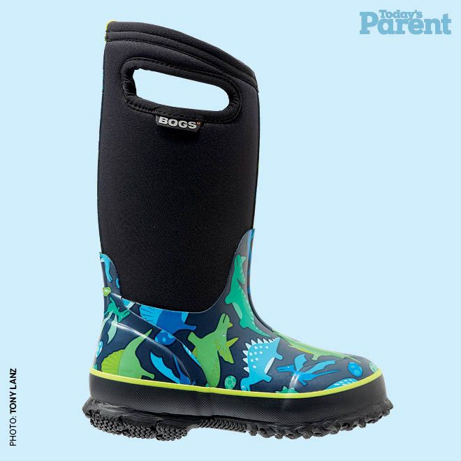 12 cozy winter boots for kids - Classic Dinosaur Insulated boot, $90, bogsfootwear.ca #TodaysParent #KidsWinterBoots