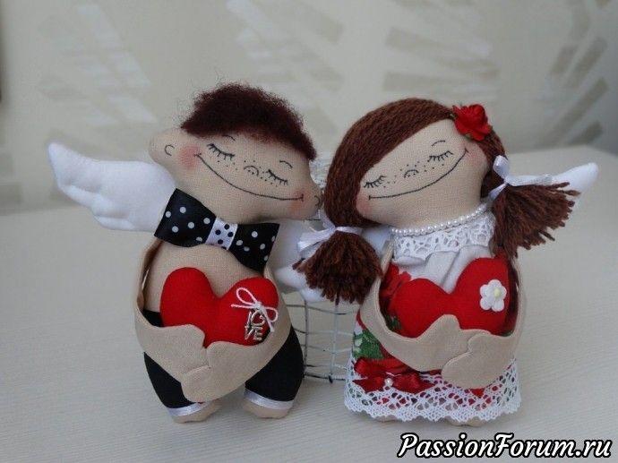 Еще немного текстильных кукол с выкройками
