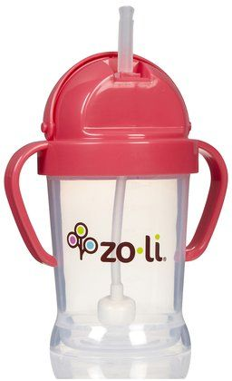 Zoli Baby BOT - Straw Sippy Cup - Innovative straw technology that moves to the liquid whenever the cup is tilted. One piece handle and lid to eliminate lost parts. #bestof2013