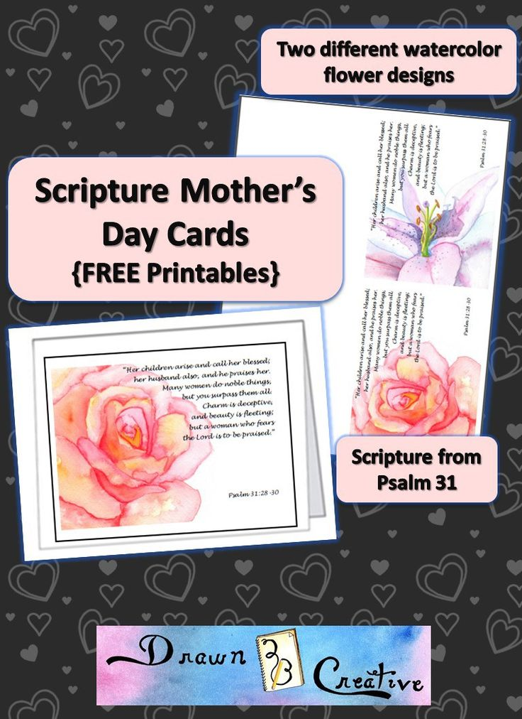Scripture Mother S Day Cards Free Printable Ones Pray