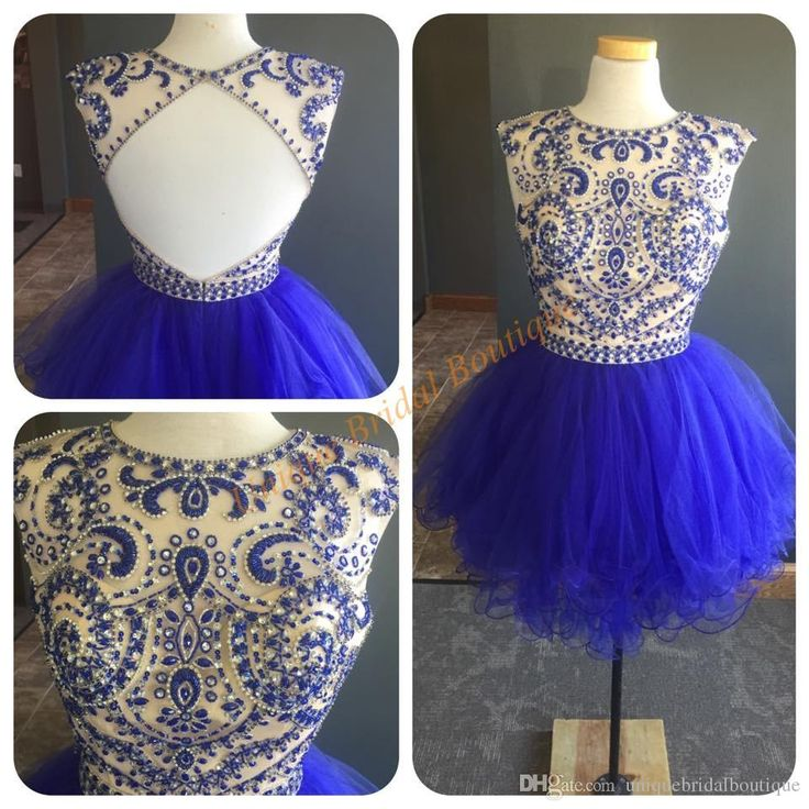 2016 Royal Blue Homecoming Dresses With Open Back And Tiered Skirts Real Pictures Beaded Beading Tulle Tutu Sweet 16 Gowns Homecoming Dresses Sale Homecoming Dresses Websites From Uniquebridalboutique, $141.81| Dhgate.Com