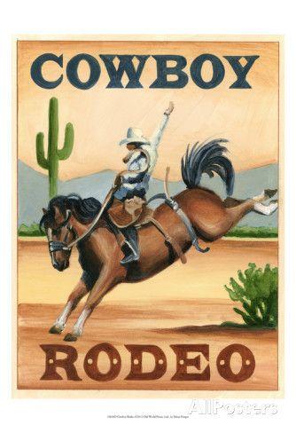 Cowboy Rodeo Kunstdrucke von Ethan Harper bei AllPosters.de