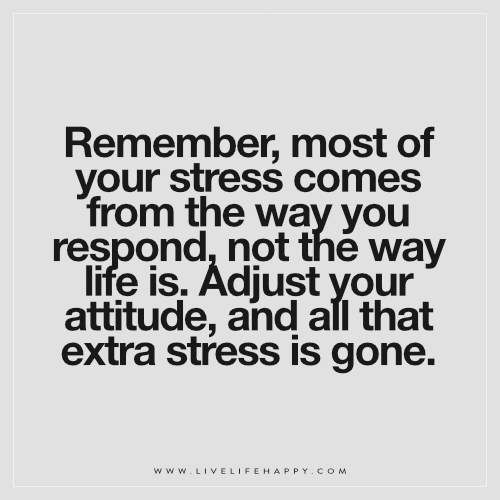 Stress Quotes Inspiration Remember Most Of Your Stress Comes From Live Life Happy