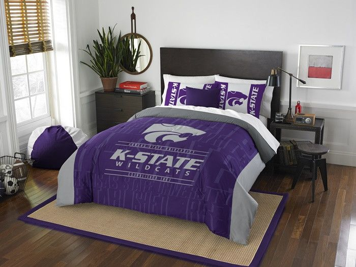 Attractive Kansas State Wildcats Modern Take Full Comforter Set. Includes Full Queen  Comforter And 2 Part 32