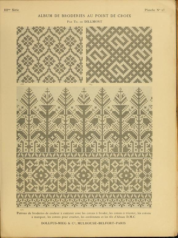 European x-stitch patterns (use for patterned mittens) Egentlig broderidiagram, men mange av dem lar seg fint strikkes også.