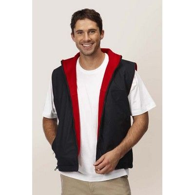 Promo Branded Dou Tone Reversible Vest Min 25 - 100% Polyester, Contrast Lining of Microfleece, Embroidered Zip. http://www.promosxchange.com.au/promo-branded-tone-reversible-vest/p-11112.html