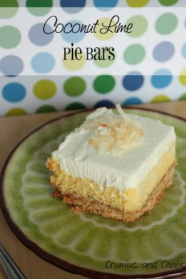 Coconut Lime Pie BarsCoconut Limes, Chaos, S'Mores Bar, Recipese Desserts, Limes Pies, Recipese Food, Pies Bar, Brownies, Recipe Pies