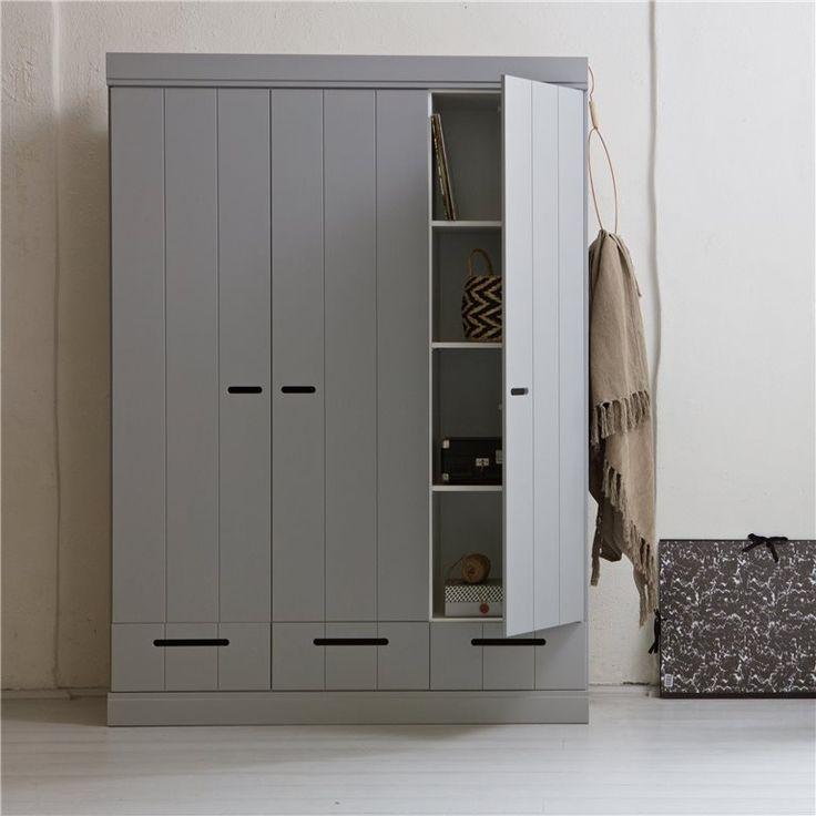 Woood Connect Kast 3 deurs met lades kopen? Bestel bij fonQ.nl
