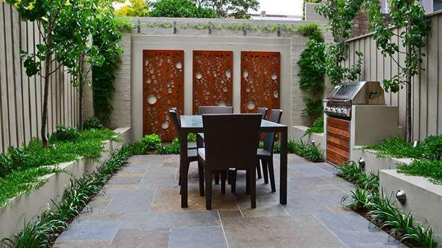 Steel Garden Wall Art Urban Backyards Pinterest
