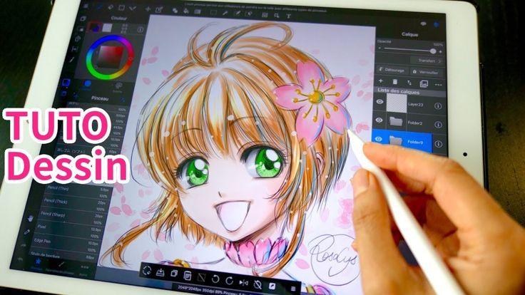 Comment coloriser Card Captor Sakura Clear Card Arc #2 TUTO DESSIN #35 iPad Pro Fan-art manga ...