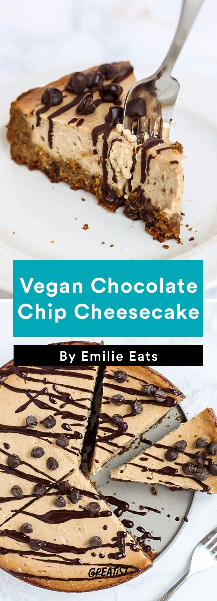 Tofu Recipes: Vegan Chocolate Chip Cheesecake