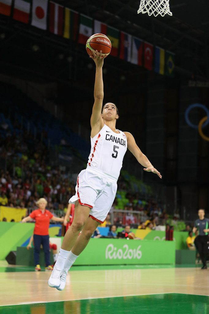 Kia Nurse #5 of Canada lays up a shot against Serbia during the women's basketball game on Day 3 of the Rio 2016 Olympic Games at the Youth Arena on August 8, 2016 in Rio de Janeiro, Brazil. (Source: Christian Petersen/Getty Images South America)